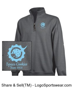 Charcoal Quarter Zip with Embroidered Logo Design Zoom