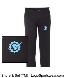 Space Cookies yoga pant Design Zoom