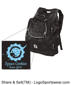 Computer Backpack with embroidered Space Cookies logo Design Zoom