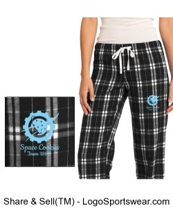 Pajama Pants with embroidered Space Cookies logo Design Zoom